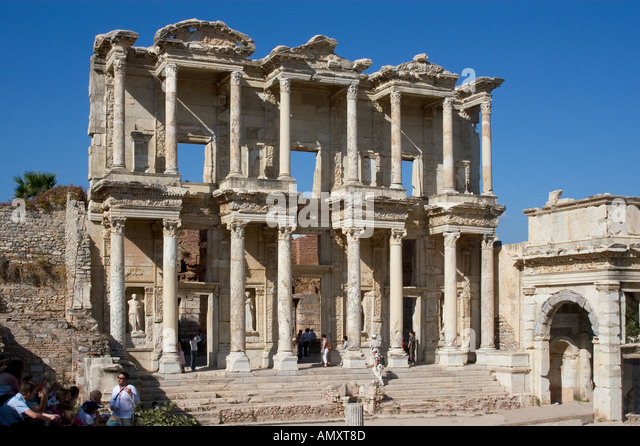 the celsus library in ephesus dating from 135 ad