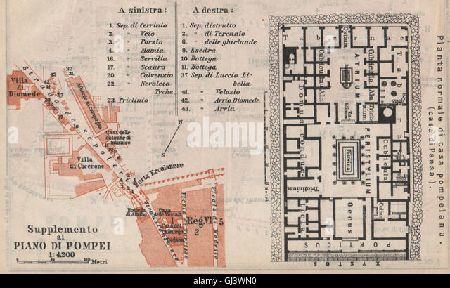 Plan Of A Pompeian House Plans