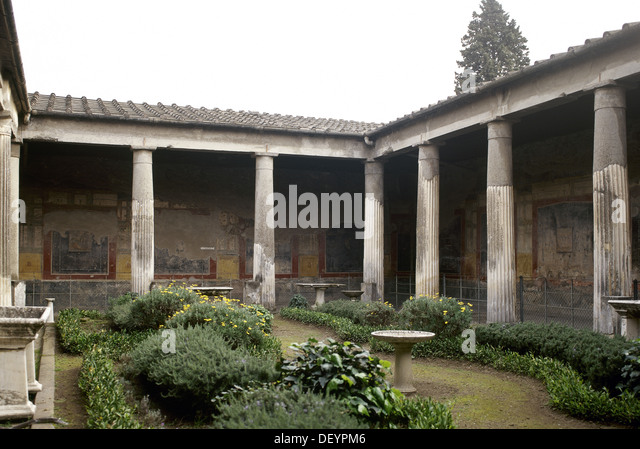 house of the vetti and house Peristyle of the house of vetti pompeii italy, c 1890s, (l) library image this is a museum-quality, reproduction print on premium, acid-free, semi-gloss paper with.