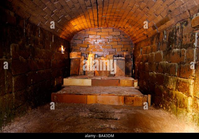 Inside Cement Kiln : Kiln interior stock photos images