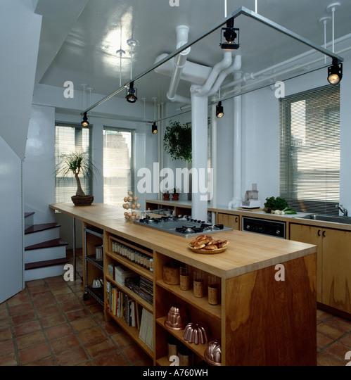 Kitchen Island Unit Lights: Kitchen Shelving Monochromatic Stock Photos & Kitchen