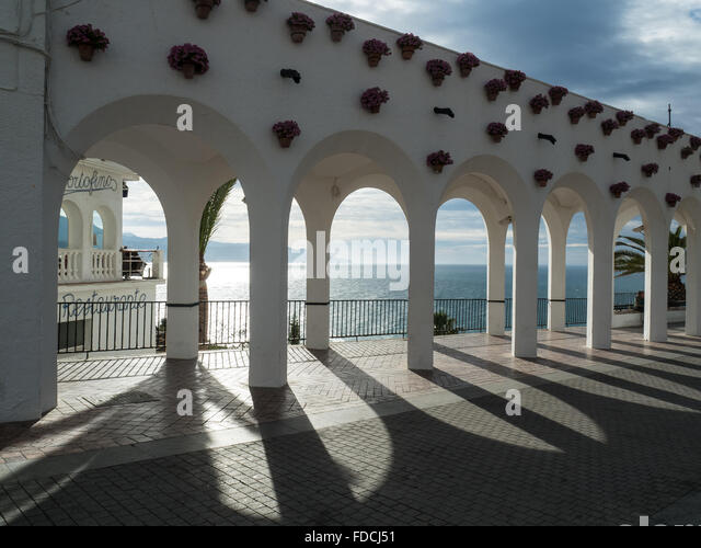 nerja spain balcon stock photos nerja spain balcon stock images alamy. Black Bedroom Furniture Sets. Home Design Ideas