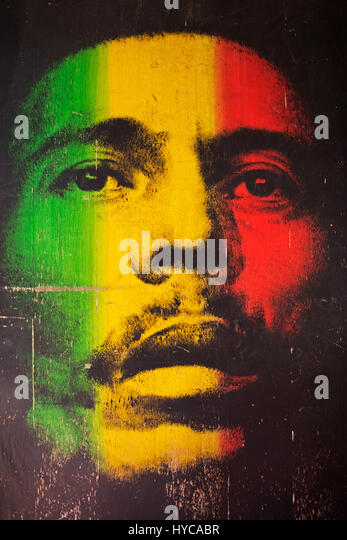 Red marley stock photos red marley stock images alamy for Bob marley mural