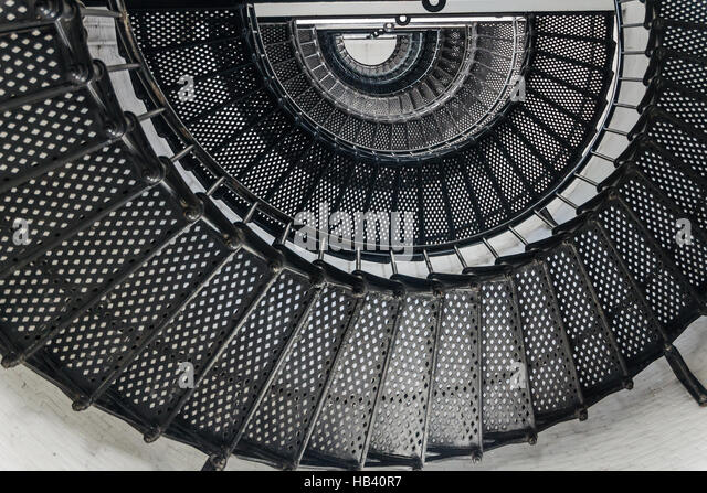 iron spiral staircase stock photos iron spiral staircase stock images alamy. Black Bedroom Furniture Sets. Home Design Ideas