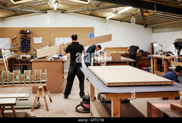 Modern Furniture Workshop bespoke furniture maker stock photos & bespoke furniture maker