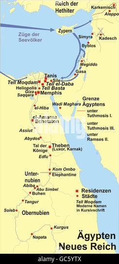 Map Ancient Egypt Stock Photos Map Ancient Egypt Stock Images - Map of egypt during the new kingdom