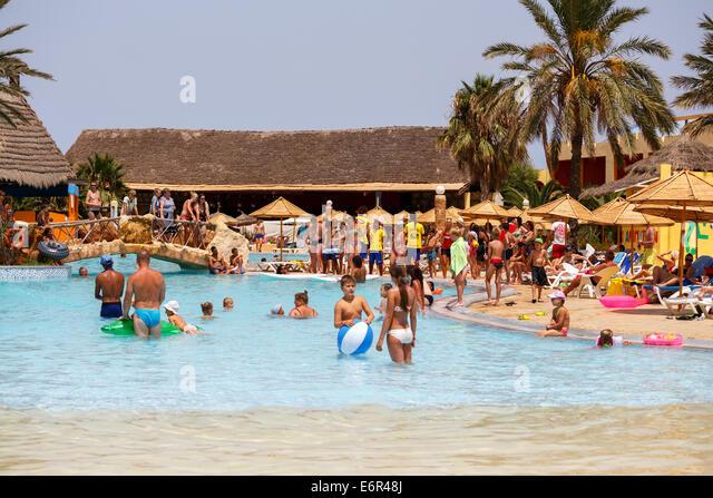 Borj Cedria Tunisia  city images : BORJ CEDRIA, TUNISIA AUGUST 5: Tourists on holiday in an expensive ...
