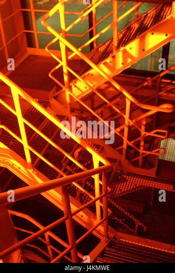 Corner Stair Tower At Night : Metal railings detail stock photos