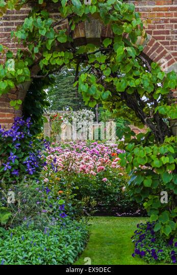 Castle Garden Gardens Border Stock Photos Castle Garden Gardens