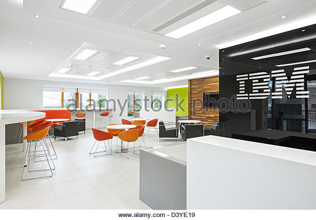 modern open plan interior office space. Modern Open Plan Interior Office Space - Stock Image