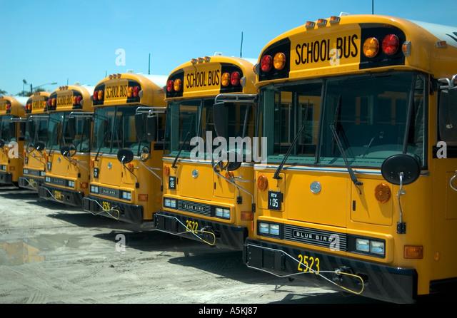 School Buses Depot Stock Photos & School Buses Depot Stock Images ...
