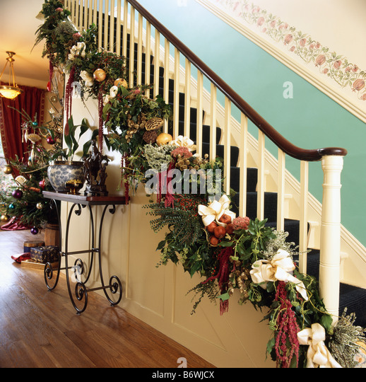 Halls Interiors Stairs Christmas Stock Photos & Halls Interiors ...