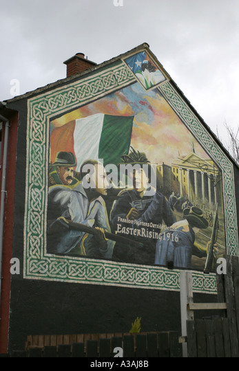 Whiterock road stock photos whiterock road stock images for Easter rising mural