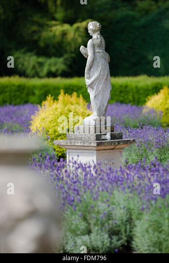 Statue In The Dutch Garden At Belton House, Lincolnshire.   Stock Image