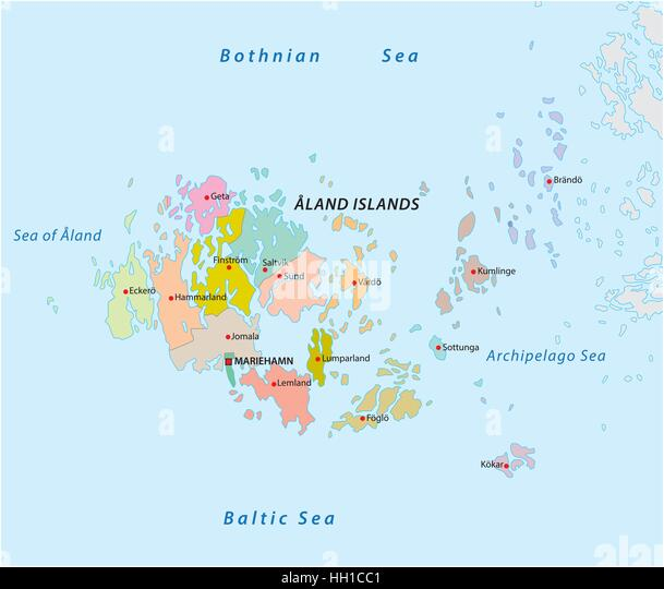 Aland Finland Europe Map Stock Photos Aland Finland Europe Map - Aland islands political map