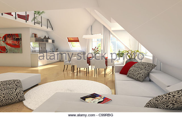 Best Living Room Dachschrge Home Houses Buildings Stock Image With  Dachschrge