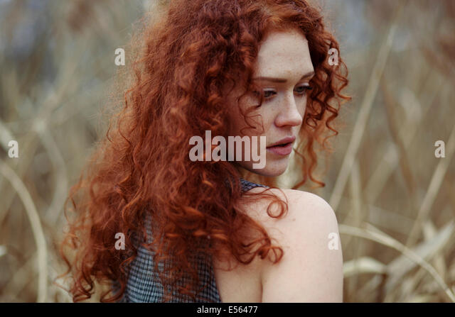 Long Curly Red Hair Back Stock Photos & Long Curly Red ...