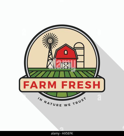 Agriculture Vector Logo Design Template Stock Photos