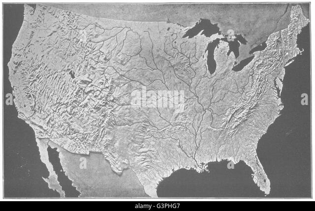 Relief Map Black And White Stock Photos Images Alamy - Relief map us