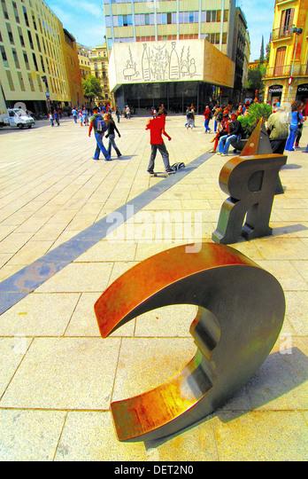 Placa nova barcelona stock photos placa nova barcelona - Colegio arquitectos barcelona ...