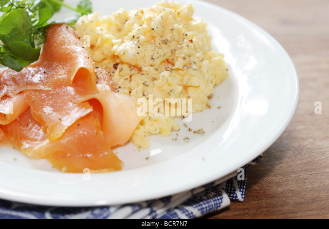 Smoked Salmon Scrambled Egg Stock Photos & Smoked Salmon ...