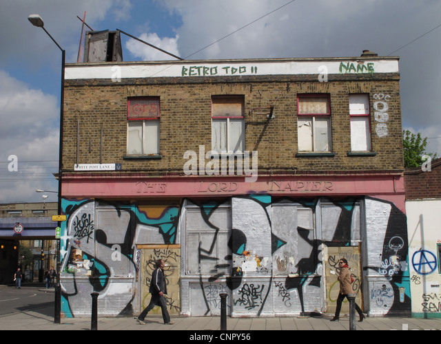Derelict Pub In Hackney Wick Near The London 2012 Olympic Park