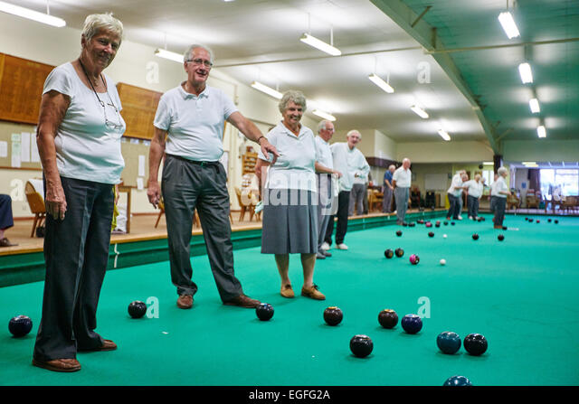 Bowls Bowling Leisure Pensioners Stock Photos Amp Bowls