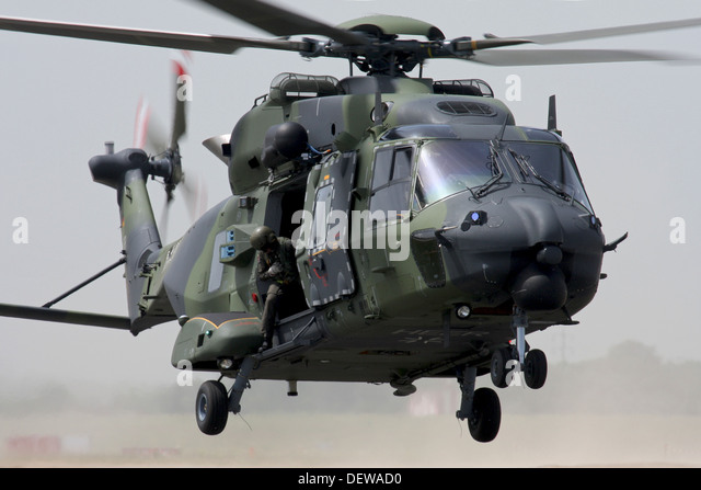 Military helicopter from German Army in action - Stock Image Army Helicopters In Action