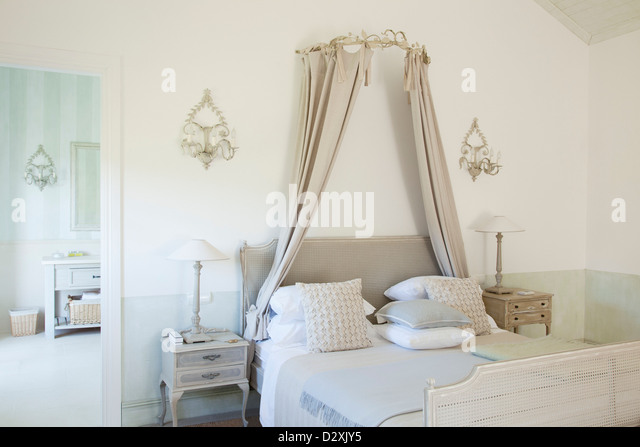Bed with canopy in luxury bedroom - Stock Image & Bed Canopy Stock Photos u0026 Bed Canopy Stock Images - Alamy