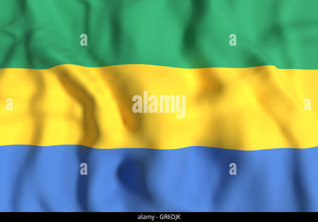 Gabonese republic stock photos gabonese republic stock images 3d rendering of gabonese republic flag waving stock image sciox Gallery