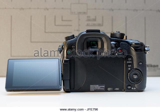 Panasonic Lumix DMC-GH4  mirrorless camera - Stock Image