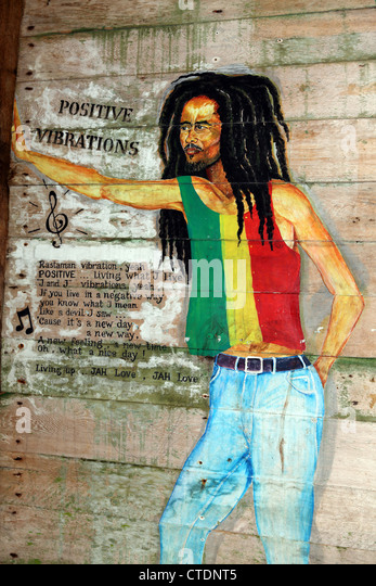 Rastafarian stock photos rastafarian stock images alamy for Bob marley mural san francisco