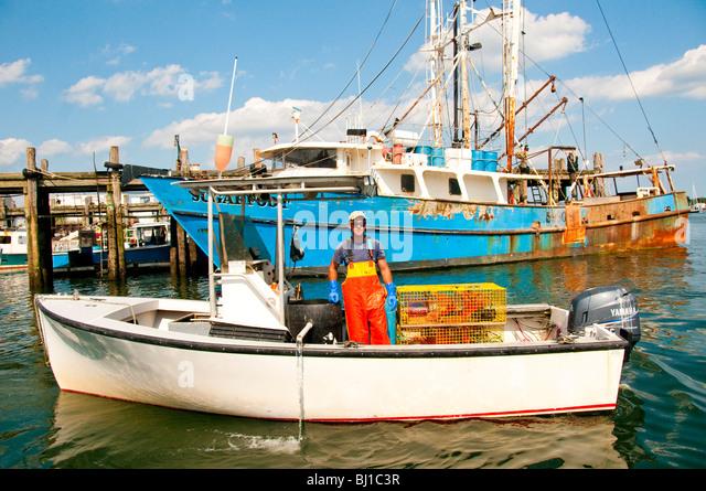 Lobsterman maine stock photos lobsterman maine stock for Bjs portland maine