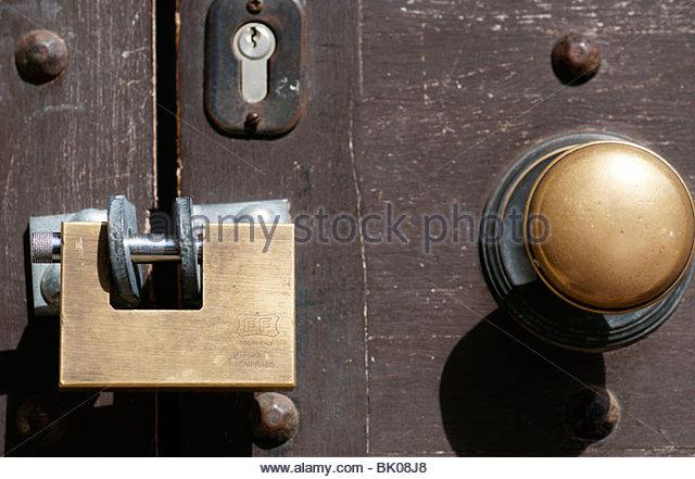 Padlocked door Old Town Rhodes Greece - Stock Image & Used Door Locks Stock Photos \u0026 Used Door Locks Stock Images - Alamy Pezcame.Com