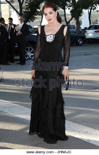 Priscilla Presley. Priscilla Presley leaves an event in downtown Los Angeles. - Stock Image