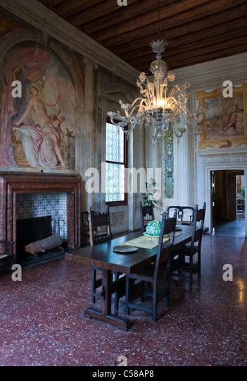 Vedelago Italy  city photo : Italy,Veneto, Fanzolo di Vedelago, fresco paintings of Battista ...