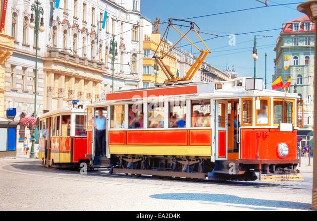 old tram prague street - photo #1