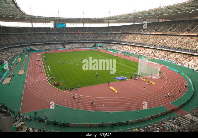 Athletics Meeting At The Stade De France Stadium In Paris August 2004