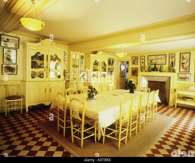 Dining Room Maison De Monet Monet Garden   Stock Image