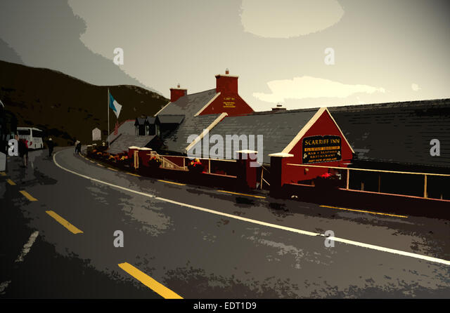 Scarriff Inn on the Ring of Kerry  3 km from Toor  Kerry  Ireland. Francis Philips Stock Photos   Francis Philips Stock Images   Alamy
