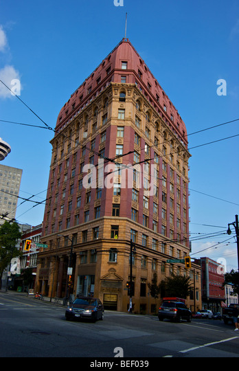 Triangular Shaped Dominion Building On Corner Of West Hastings And Cambie  Streets A Vancouver Heritage Tower