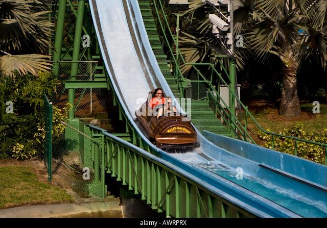 Log Flume Ride Busch Gardens Stock Photos Log Flume Ride