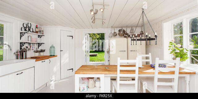 Country House Kitchen Interior   Stock Image
