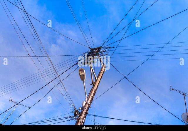 Telephone Electricity Wires Supply Stock Photos & Telephone ...