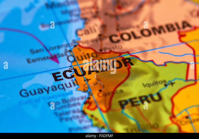 Ecuador Map Stock Photos Ecuador Map Stock Images Alamy