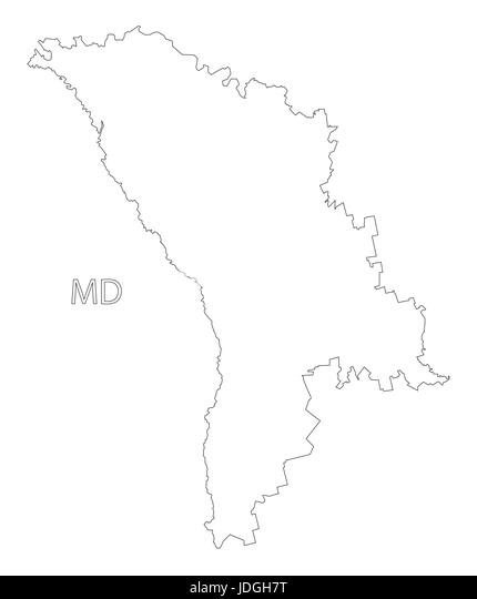 Moldova Outline Map Stock Photos Moldova Outline Map Stock - Moldova map outline