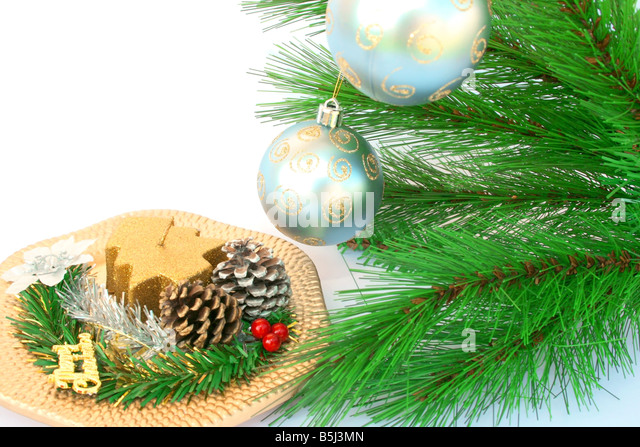 Christmas tree indoors fir needles stock photos for Fir cone christmas tree decorations