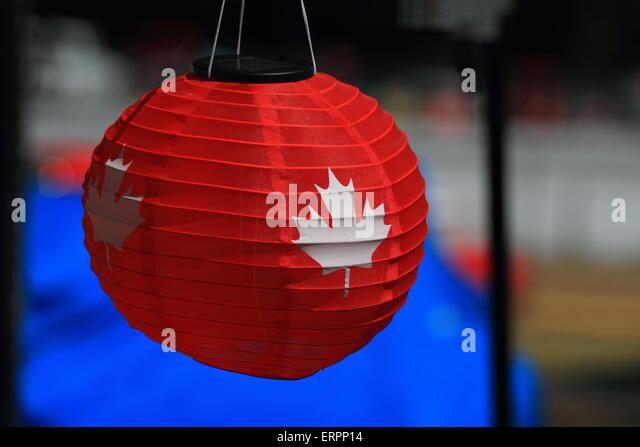 Canada Patio Lantern   Stock Image