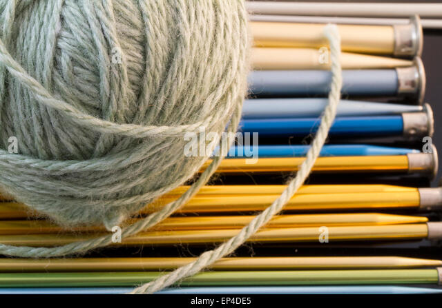 Knitting Needle And Yarn Size : Work with needles stock photos