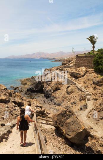 Puerto calero stock photos puerto calero stock images - Lanzarote walks from puerto del carmen ...